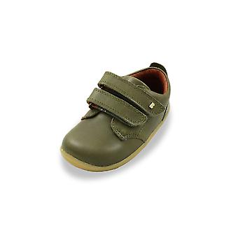 Bobux step up port olive green shoes