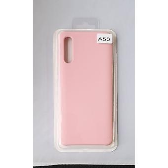 Silicone Cover Case for Samsung A50 Pink