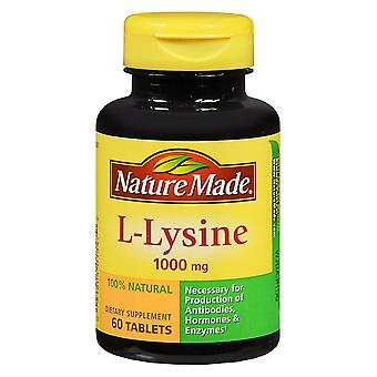 Nature made l-lysine, 1000 mg, extra strength, tablets, 60 ea