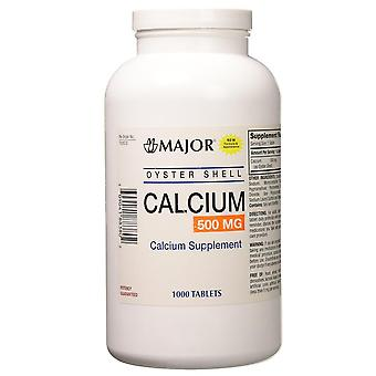 Major oyster shell calcium supplement, 500 mg, tablets, 1000 ea