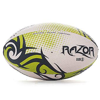 Optimum Razor Rugby League Union Ball Black/Yellow/White