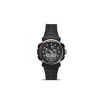Sekonda Kids Round Black Digital Dial 50 Metre Water Resistant  Black Rubber Strap Watch 2423.05