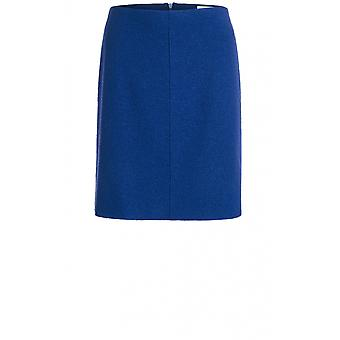 Oui Blue Boiled Wool Skirt