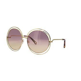 Chloe Carlina CE114SD 702 Gold-Havana/Rose Gradient Sunglasses