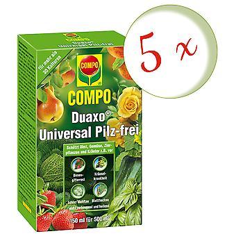Sparset: 5 x COMPO Duaxo® Universal Mushroom-Free, 150 ml