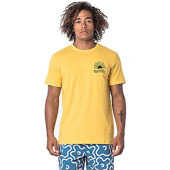 Rip Curl Golden Road Short Sleeve Shirt in Washed Yellow