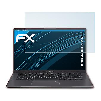 atFoliX Glass Protector compatible with Asus VivoBook 14 X412FA 9H Hybrid-Glass