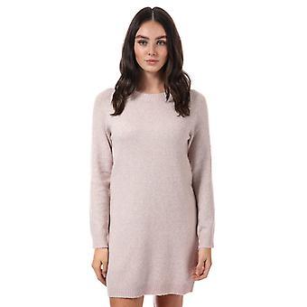 Dames's Vero Moda Doffy Lurex Jumper Dress in Pink