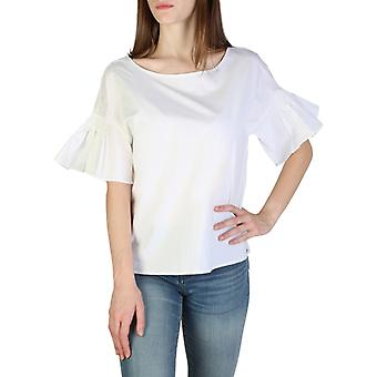 Woman cotton short top round t-shirt top ae47095