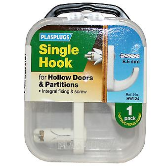 Plasplugs Hollow Single Door Hook