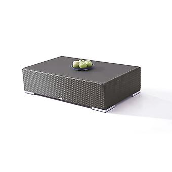 Polyrattan Cube Table 125 cm - Meubles de jardin anthracite