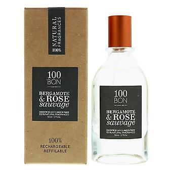 100Bon Bergamote & Rose Sauvage Concentre Eau de Parfum Spray 50ml Refillable