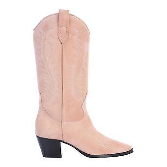 Paris Texas Px143xv003tancipria Women's Pink Leather Enkellaarsjes