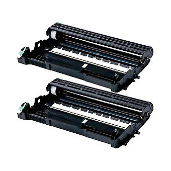 RudyTwos 2x Replacement for Brother DR2200 Drum Unit Black Compatible with HL-2270DW, MFC-7360N, MFC-7460DN, MFC-7460N, MFC-7860DW, FAX-2840, FAX-2845, FAX-2940E