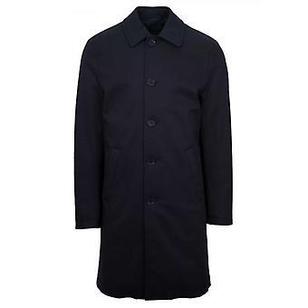 CC Collection Corneliani Navy Blue Over Coat