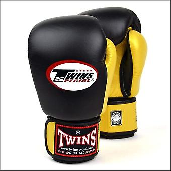 Twins special 2-tone boxing gloves - black gold