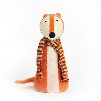 Winter Fox Needle Felting Craft Kit for Adults