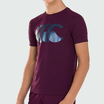 Canterbury Poly Large Logo T Shirt Junior Boys
