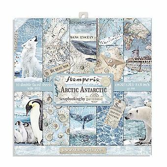 Stamperia Arktis Antarktis 8 x 8 Zoll Papier pack