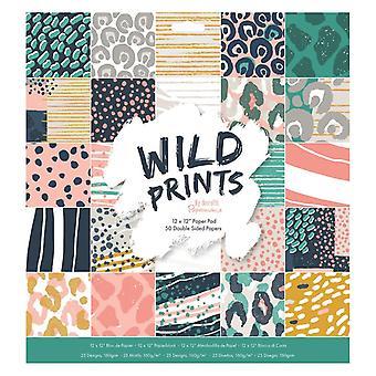 Papermania Wild Prints 12x12 Inch Paper Pad