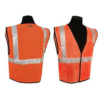 Vest conforme SS259P, ansi classe II - Orange (4XL-5XL)