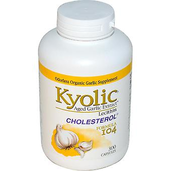 Kyolic, Aged knoflook extract met lecithine, Cholesterol Formule 104, 300 Capsules