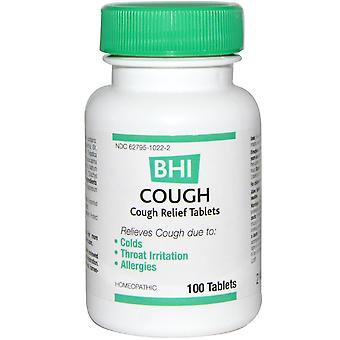 MediNatura, BHI, Cough, 100 Tablets