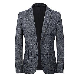 Allthemen Men's Herbst Winter Casual Slim Fit Zwei-Knopf Blazer Jacke