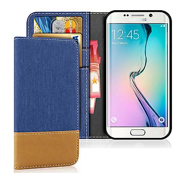 Samsung Galaxy S6 Edge Jeans Shockproof Denim Mobile Phone Mobile Leatherette
