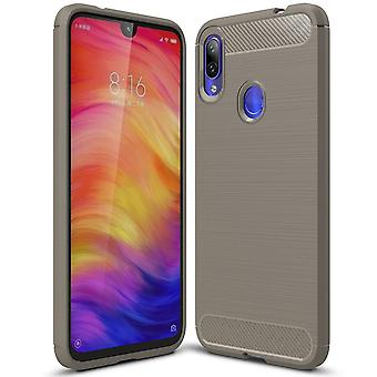 Carbon Fiber Shell for Xiaomi Redmi Note 7 / Note 7 Pro (India) Protection Solid Color TPU