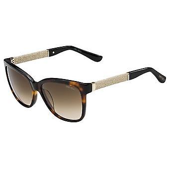 Jimmy Choo Cora/S FA5/JD Havana-Glitter/Brown Gradient Sunglasses
