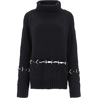 Sacai 05281001 Femmes-apos;s Pull en laine noire