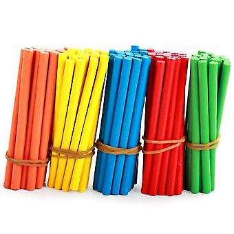 Colorful Bamboo Counting Sticks Mathematics Teaching Aids Counting Rod Kids -