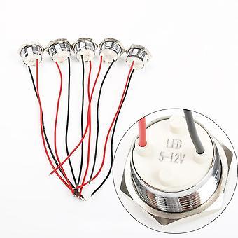 LED Metal Indicator Light Waterproof Signal Lamp Screw Connect