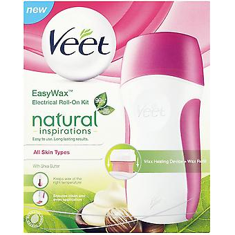 Veet Easy Wax Electrical Roll-On Kit Contains Shea Butter