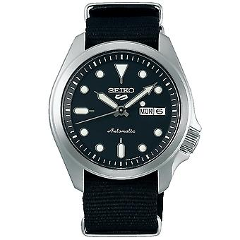 Seiko 5 Sports Automatic Black Dial Nylon Strap Mens Watch SRPE67K1