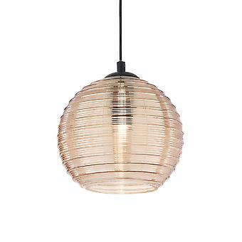 ideell lux riga - innendørs dome tak anheng lampe 1 lys gul, E27