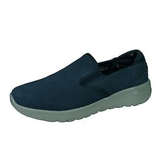 Skechers Go Joy Prédire Womens Suede Slip sur Walking Shoes - Marine