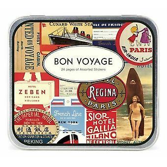 "Cavallini ""Bon Voyage"" Vintage-stil reise klistremerker 24 ark / håndverk"
