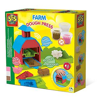 SES Creative Farm Modelling Dough Press avec Animal Sounds Unisex Multi-color