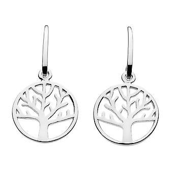 Dagg Sterling Silver enkel livets träd droppe örhängen 68018HP020