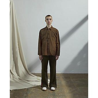 The #3001 buttoned overshirt brown
