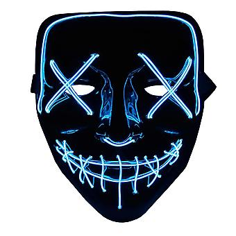 The Purge LED Neon Mask, Halloween - Blue