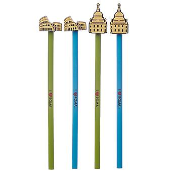 Novelty I Heart Roma Pencil with PVC Top