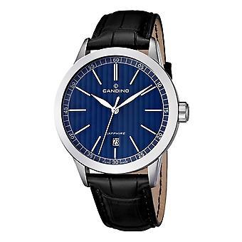 Candino Swiss C4506-3 Men's Black Leather Strap Wristwatch