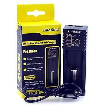 Liitokala Lii402/lii-202/lii-100/1.2v/3.7v 18650/26650/18350/16340/18500/aa/aaa Nimh Lithium Battery Charger 5v 2a Plug
