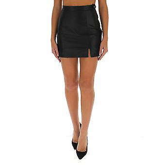 Attico 202wcs13l001100 Women's Black Leather Skirt