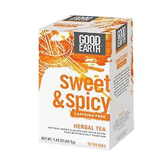 Good Earth Teas Sweet and Spicy Caffeine Free Herbal Tea, Organic, 18 Tea bags
