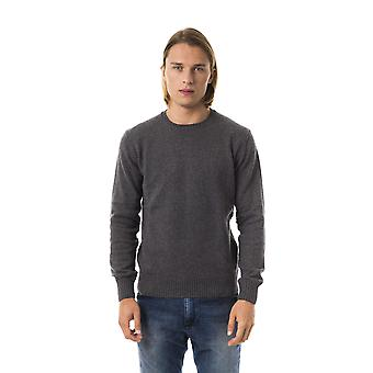 Uominitaliani Grisc. Grey Crew Neck Sweater