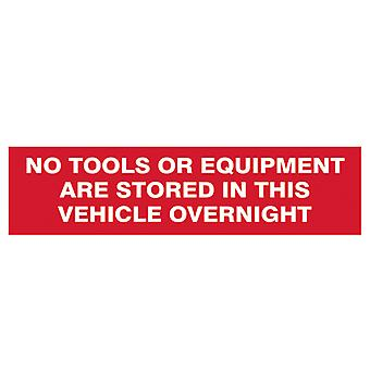 Scan SCA5256 No Tools Or Equipment In This Vehicle Overnight 200x50mm